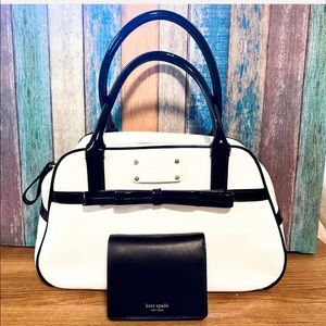 KSNY Patent Leather Simone Satchel, Nadine Wallet